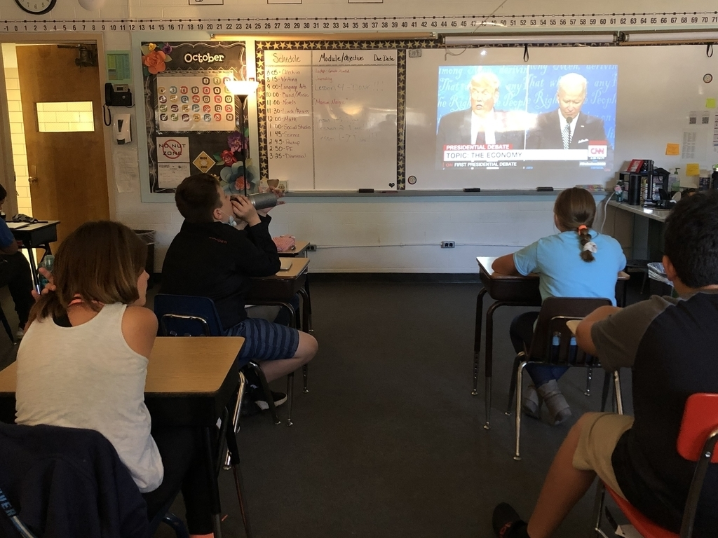 5th Grade Watching the Presidential Debate