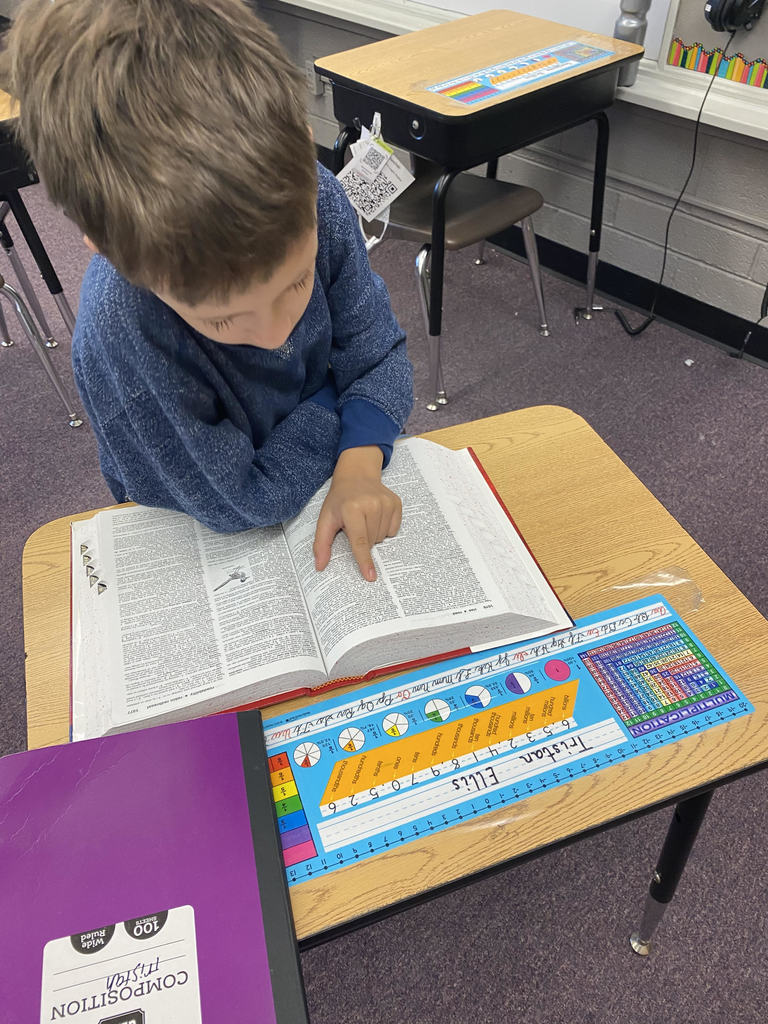 3rd graders are learning how to use a dictionary to find unfamiliar words!