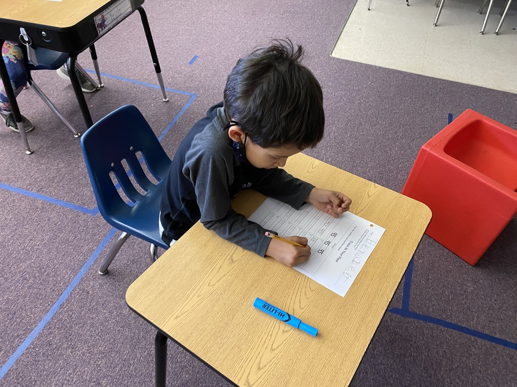 Writing numbers up to 120.