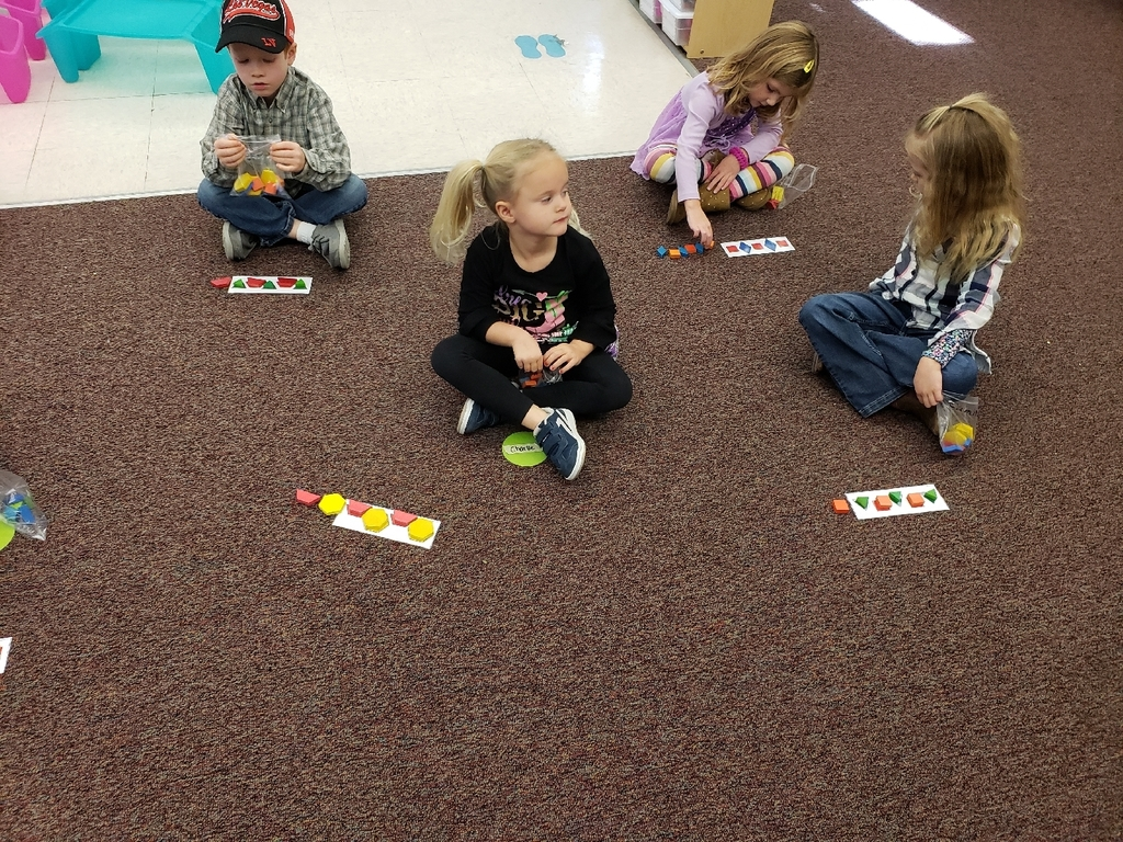 Pre-K learning AB patterns