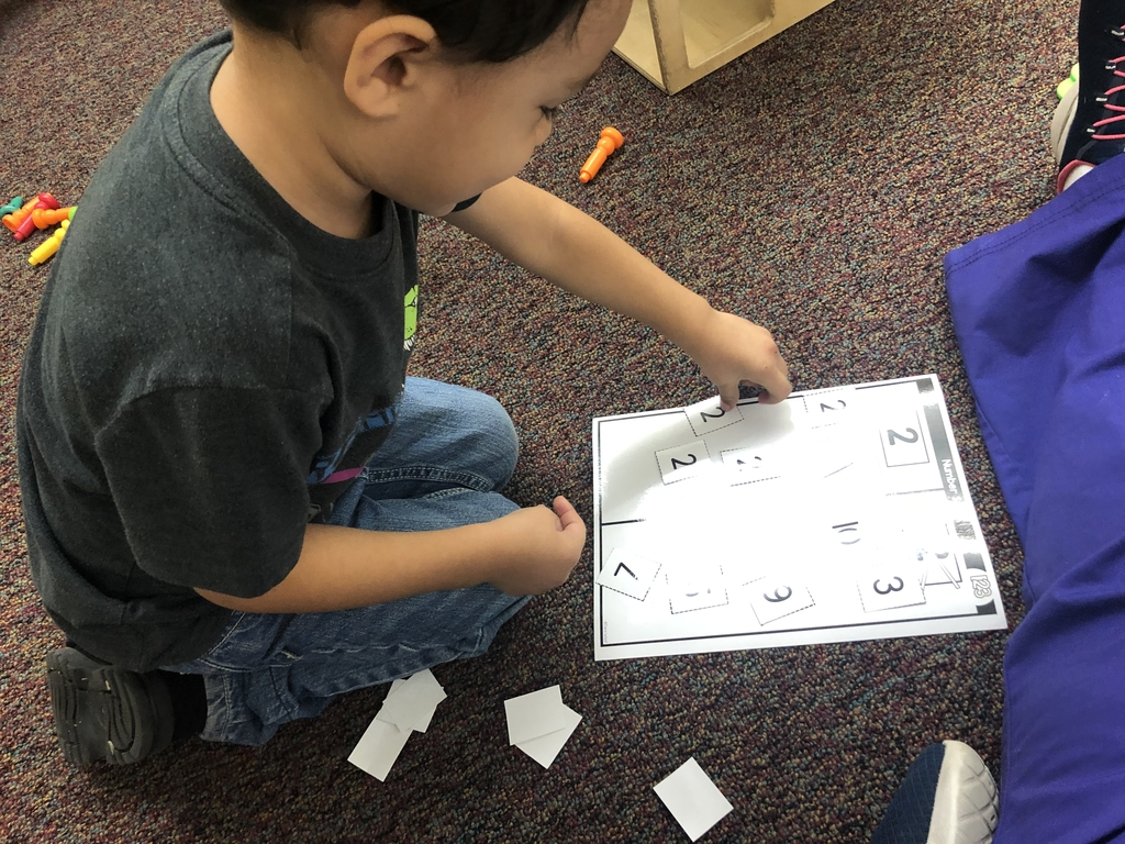 Number sorting activity