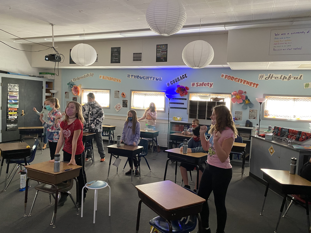 "5th graders dance along to our ""Get Moving!"" Go Noodle Dance."