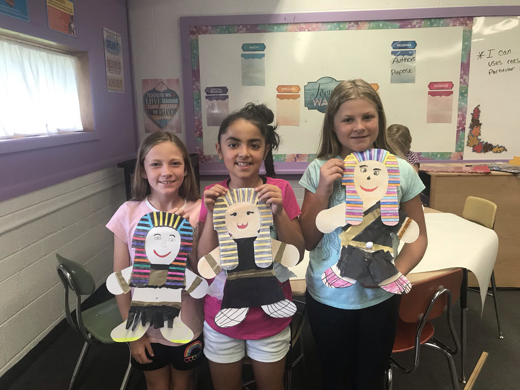 Natalie, Jacky, and Lauryn showing off their Egyptians!