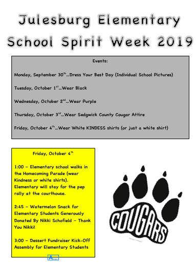 JES Spirit Week Events
