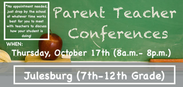 Parent Teacher Conferences Reminder!