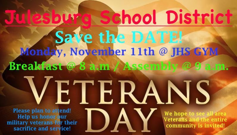 Veterans Day Breakfast/Assembly Invitation!