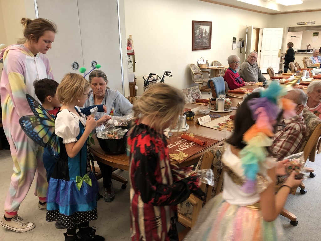JES Students go on a parade for the residents at the assisted living and nursing home,