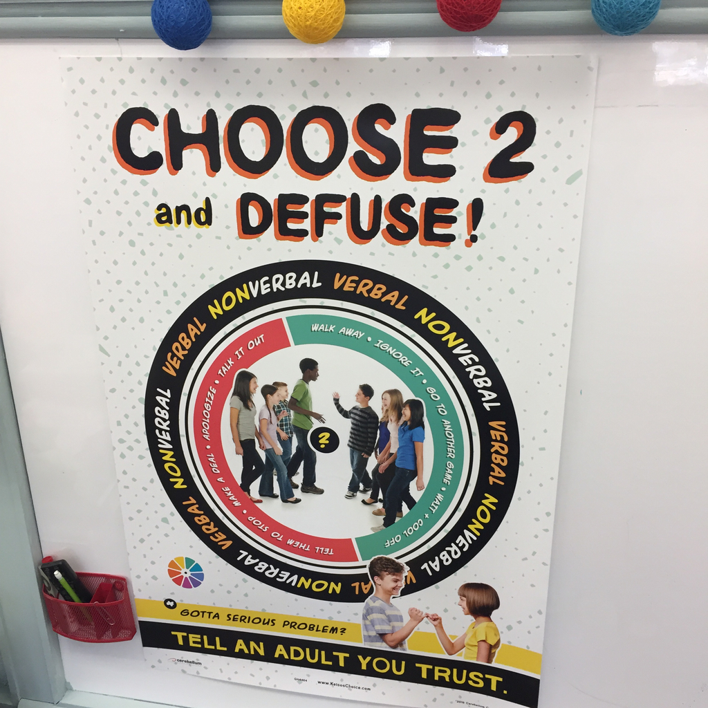 4-6 grade posters will be helpful for students solving small conflicts.