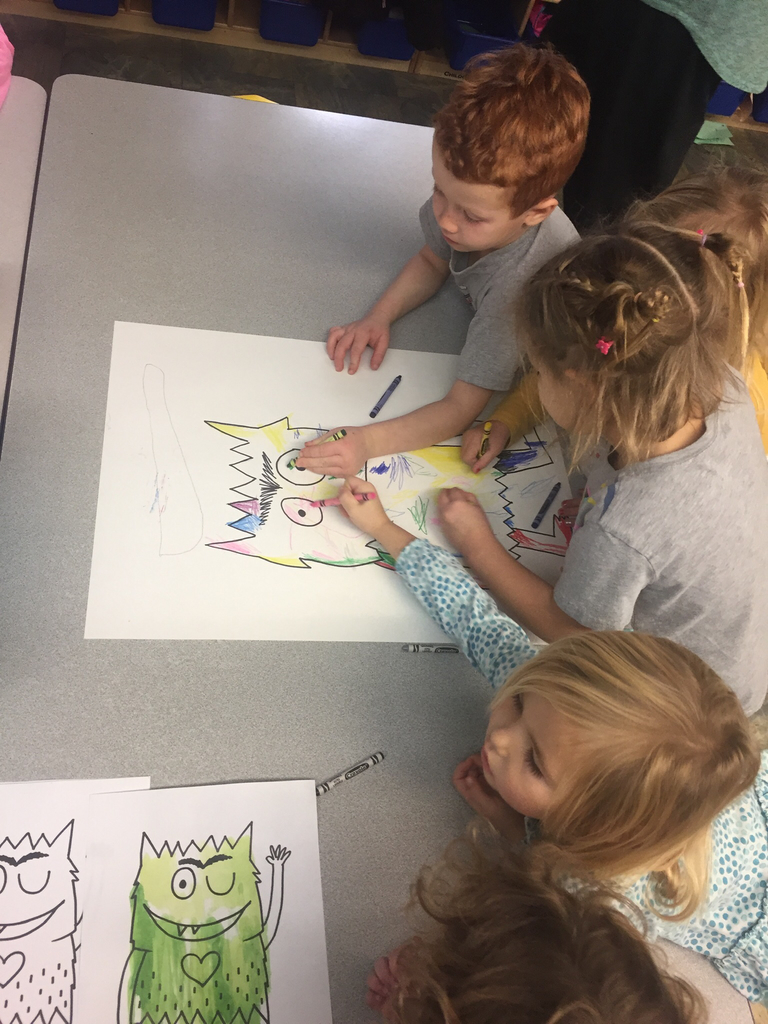 Coloring our Color Monster!