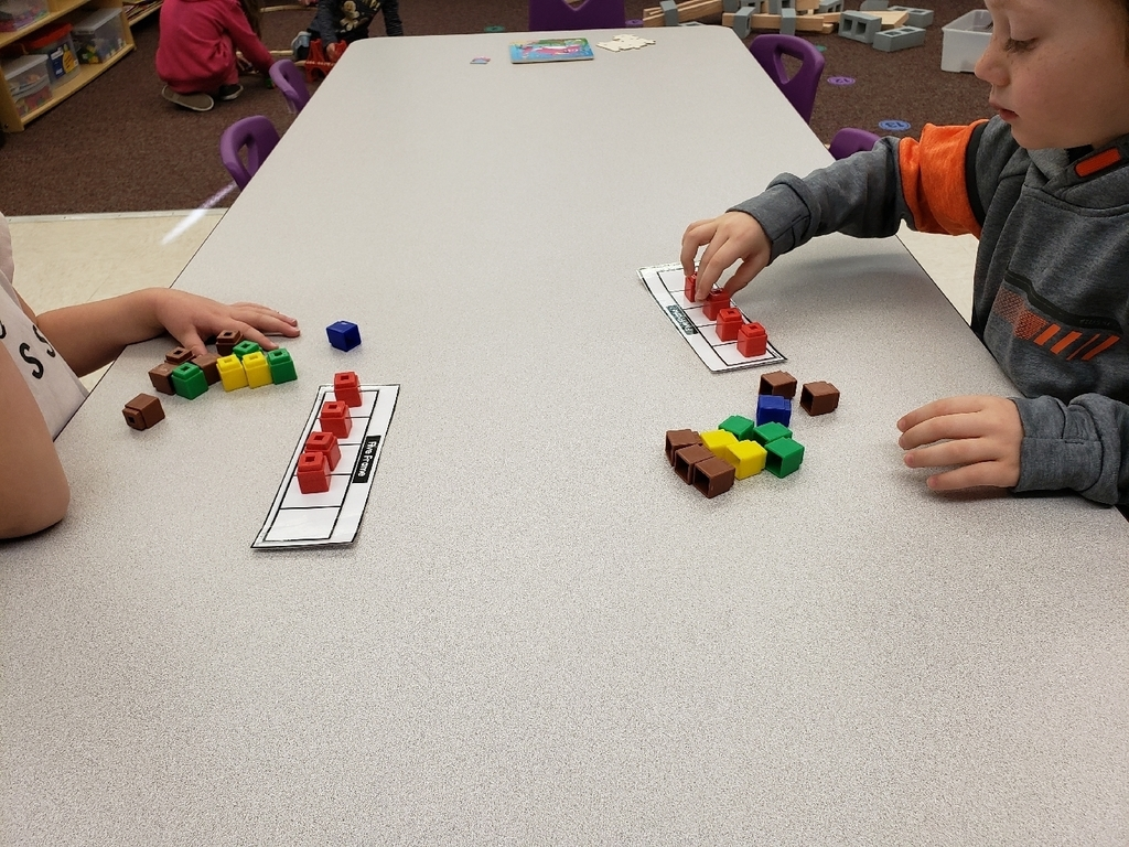 Preschool counting using a five's frame