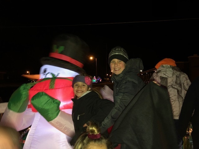 All smiles during the Parade of Lights