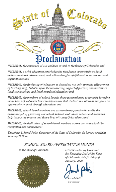 School Board Appreciation Month Proclamation
