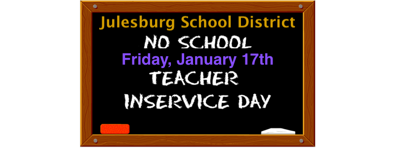 Teacher Inservice-No School!
