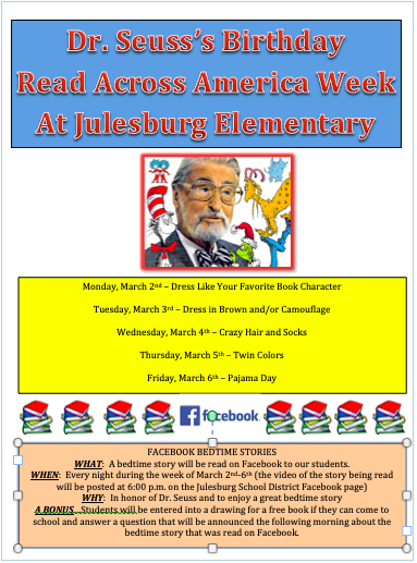 Read Across America Week at JES
