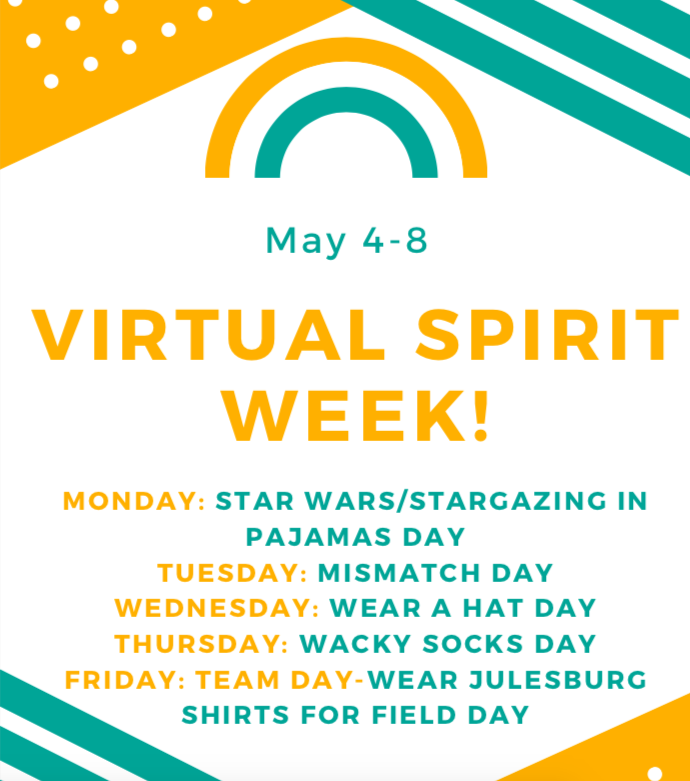 Virtual Spirit Week May 4-8 at JES