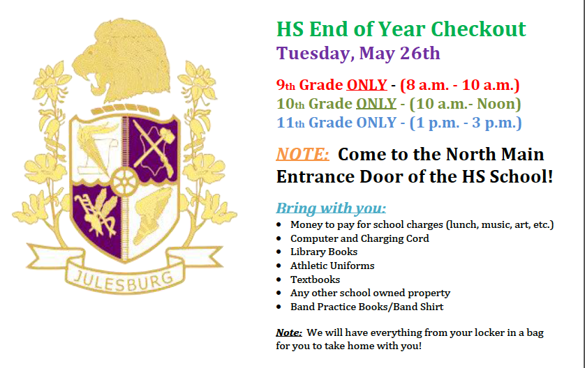 HS End of Year Checkout!